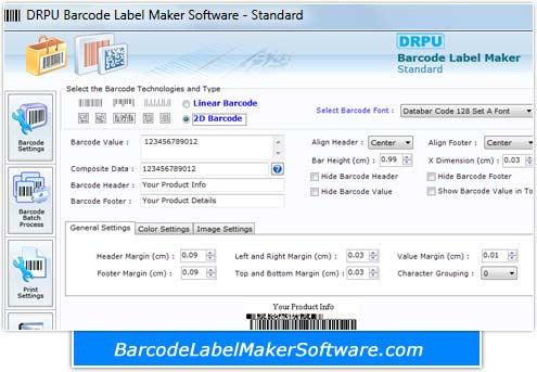 Barcode Maker Software for Standard