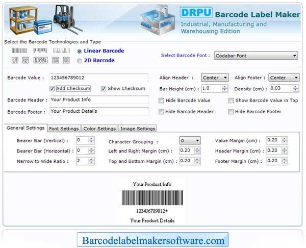 Windows 7 Barcode Label Maker for Warehouse 7.3.0.1 full