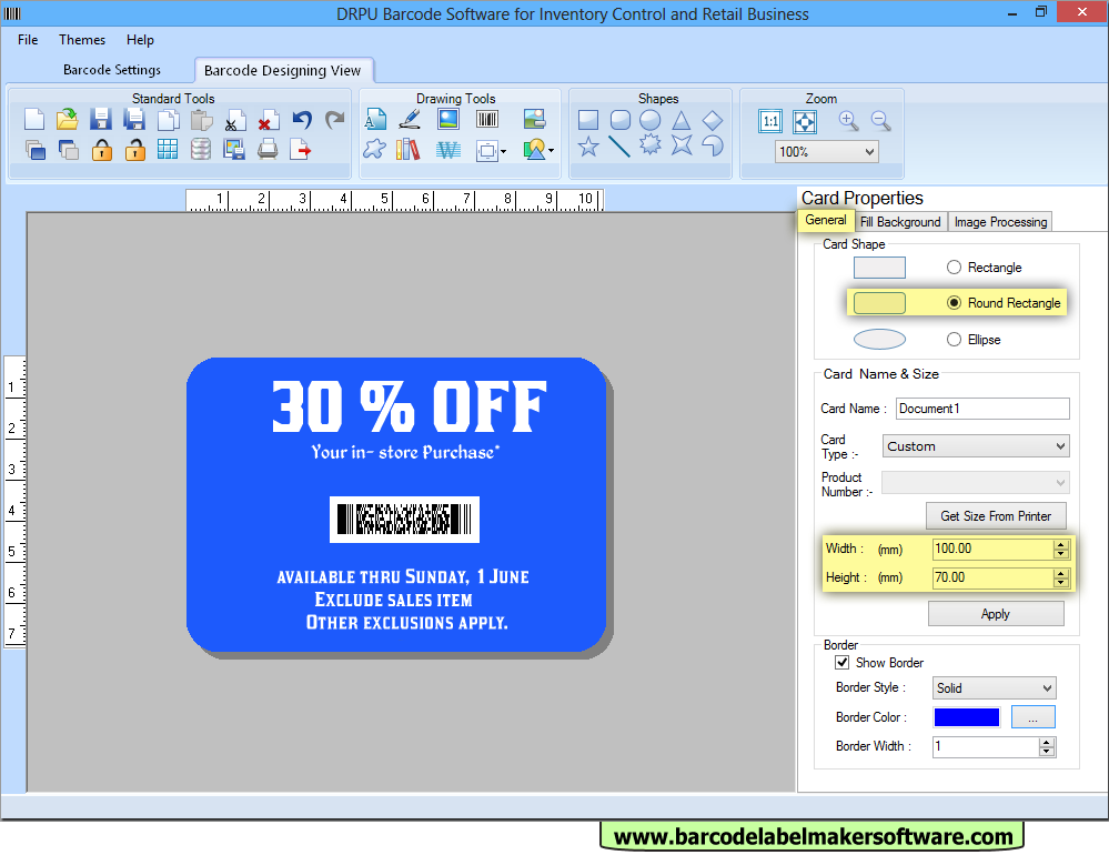 Custom Card Template label making software : Screenshots of Barcode Label Maker Software for Retail ...
